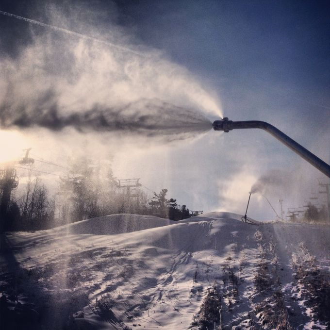 Snow-Making Has Begun