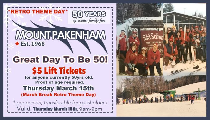 GREAT DAY TO BE 50 - Thursday March 15th